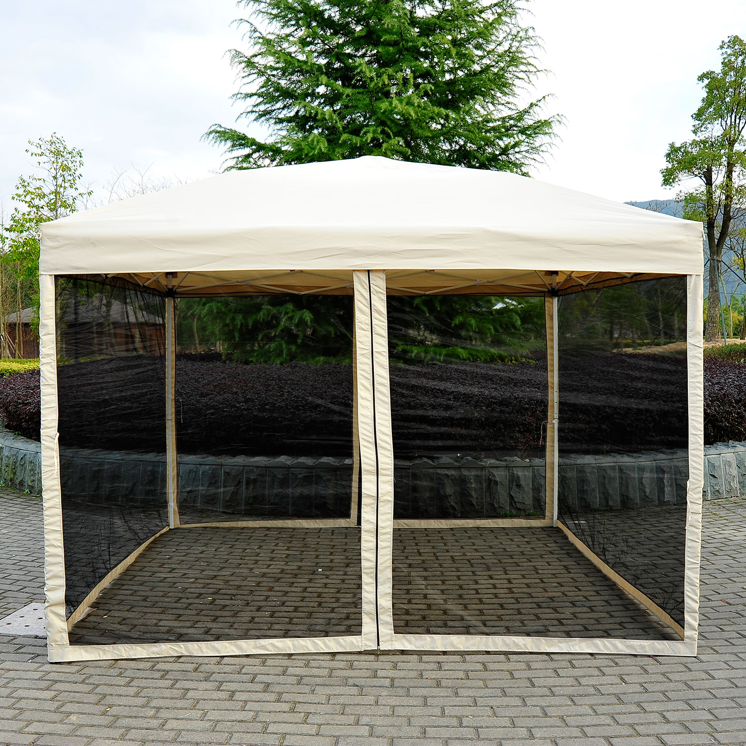 12 X 12 Screened Gazebo | Half Price Gazebo | Screened Gazebo