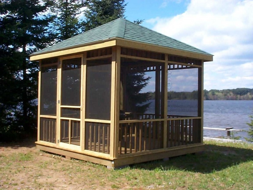 15x15 Gazebo | Screened Gazebo | Outdoor Screen House Gazebos