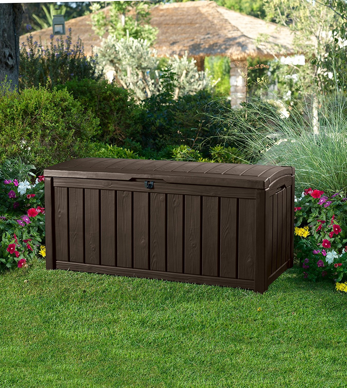 200 Gallon Deck Storage Box | Keter 150 Gallon Deck Box | Deck Box 150 Gallon