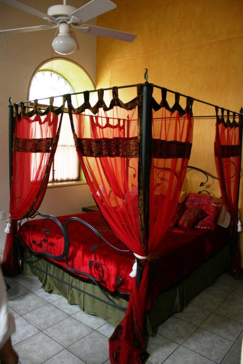 4 Poster Canopy Bed Curtains | Canopy Bed Curtains | Drapes For Four Poster Bed