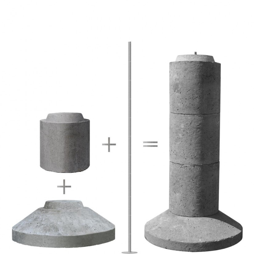 4x4 Concrete Deck Blocks | Precast Concrete Piers Home Depot | Precast Concrete Piers