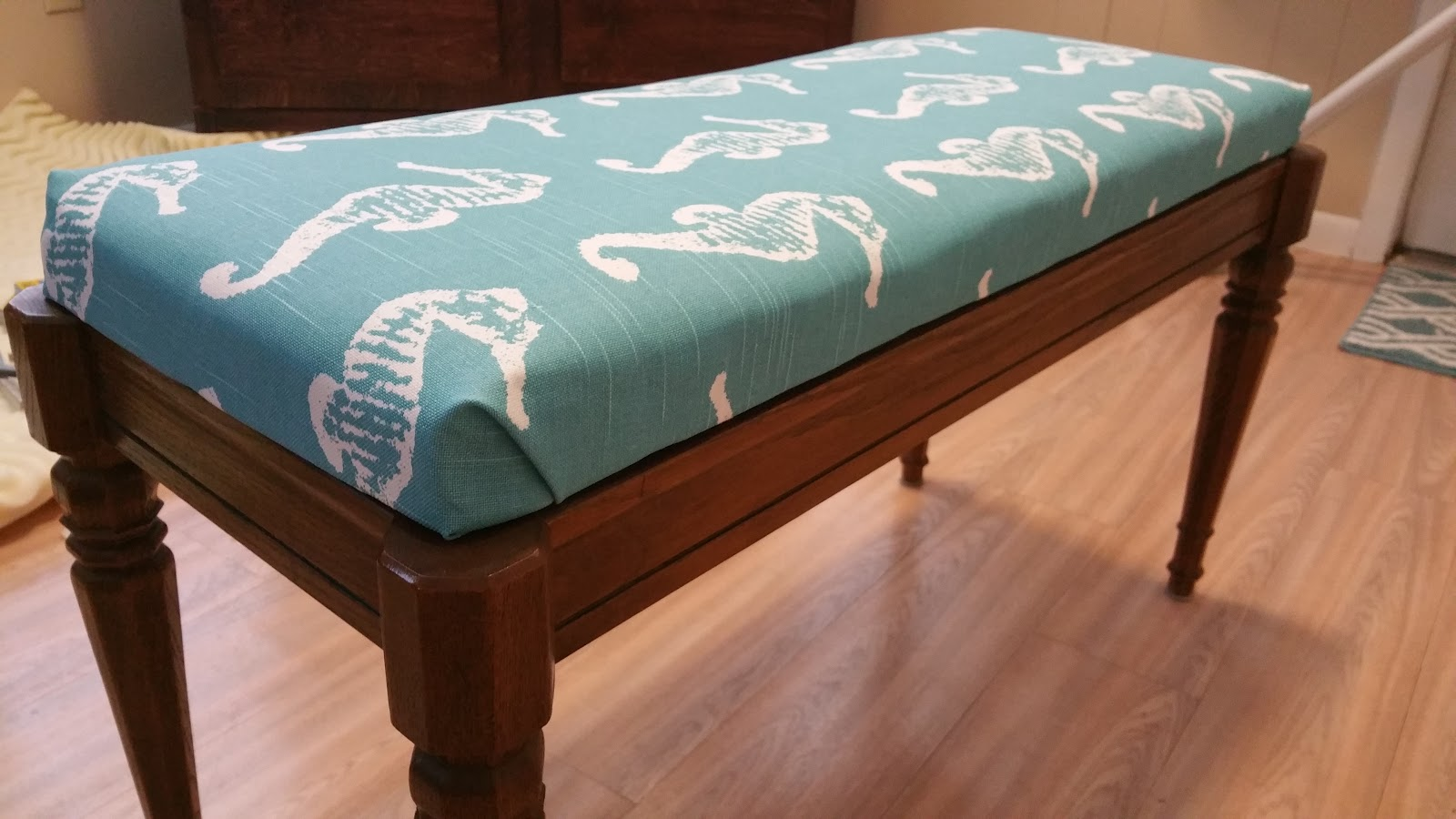 5ft Bench Seat Cushion | Garden Bench Pads | Piano Bench Cushion