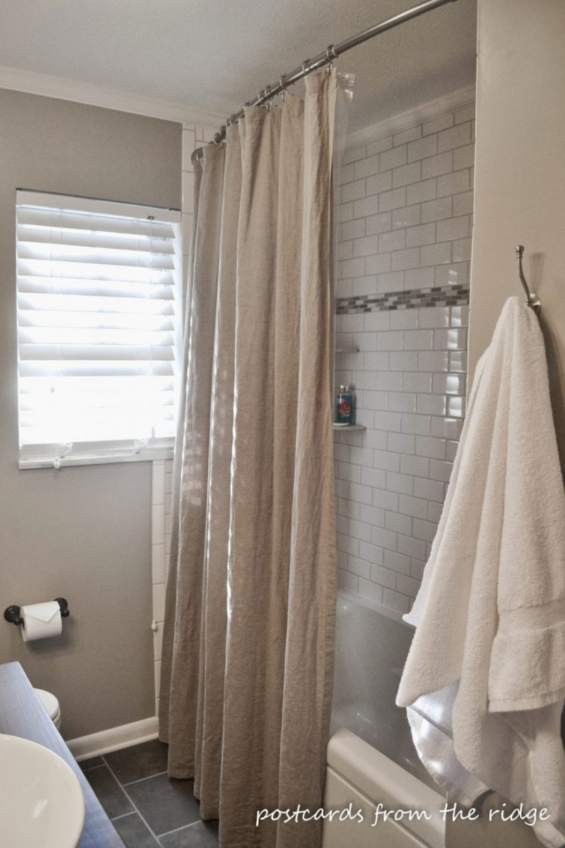 84 Wide Shower Curtain | Shower Curtain For Oval Tub | Clawfoot Tub Shower Curtain