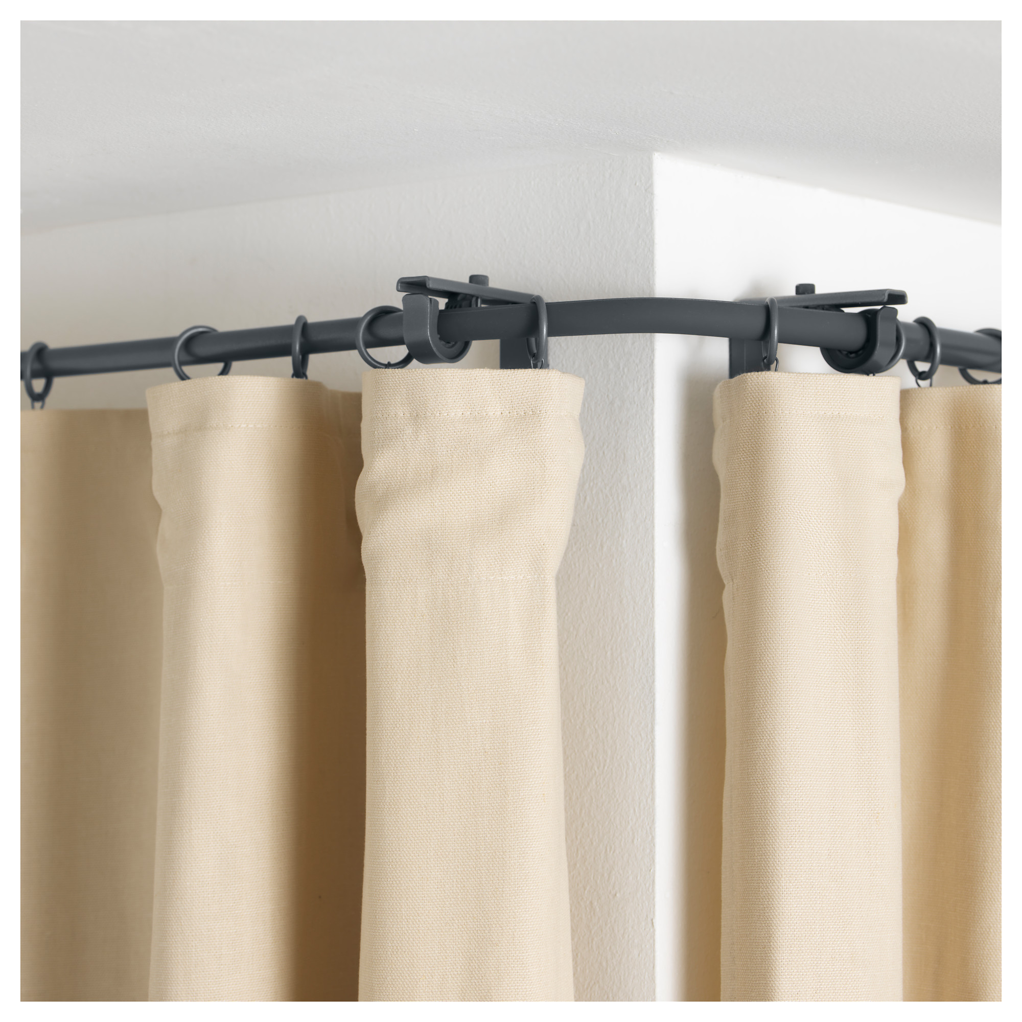 curtains how rods to create corner a pin rod and curtain like pro