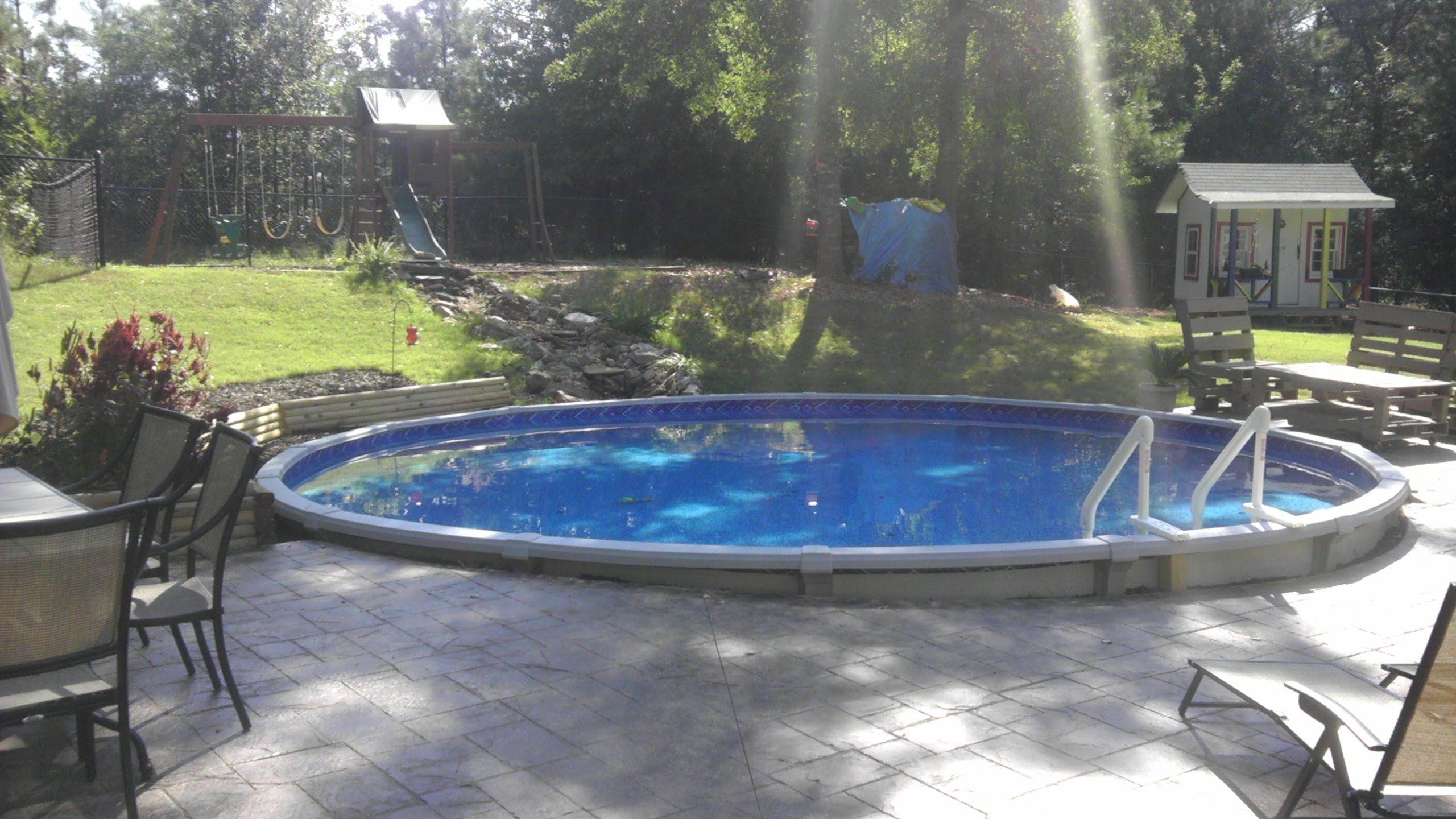 Above Ground Inground Pools | Semi Inground Pool Ideas | Cost of Above Ground Pool
