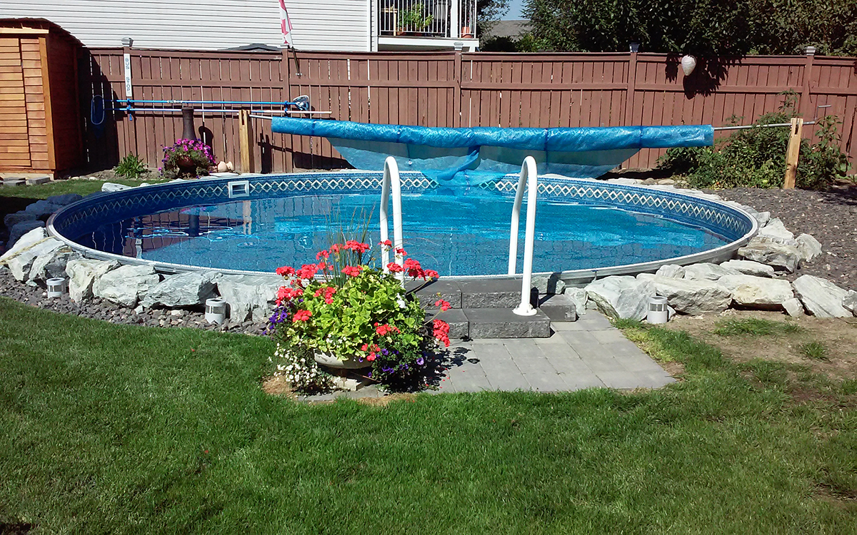 Above Ground Inground Pools | Semi Inground Pool | Semi Inground Pool Ideas