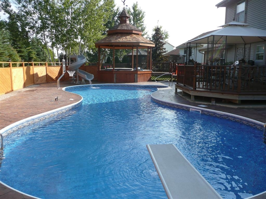 Above Ground Pools Inground | Semi Inground Pool Ideas | Partial Inground Pool