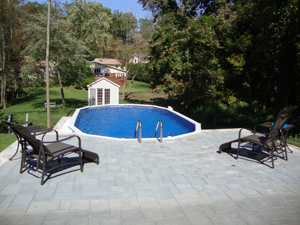 Above Ground Pools Installed | Half Inground Pool | Semi Inground Pool Ideas