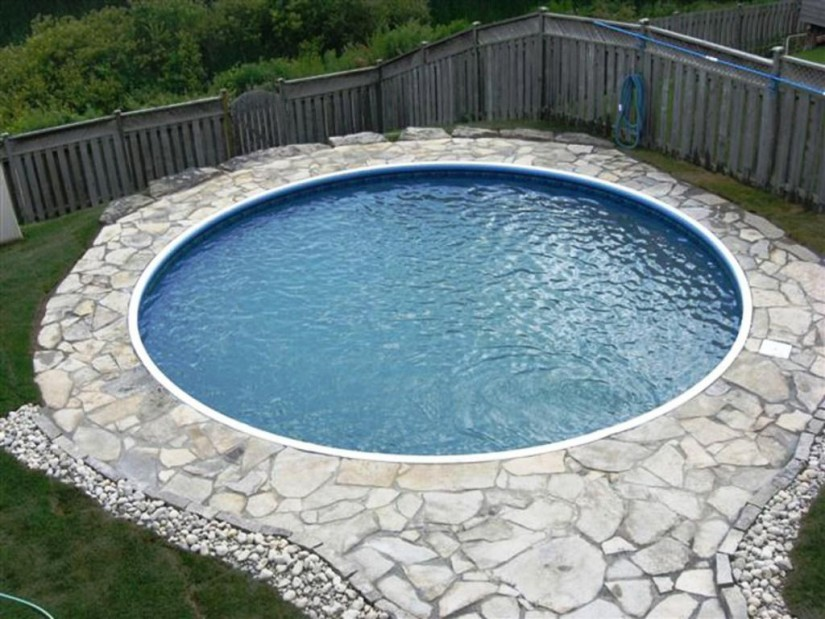 Above Ground Pools Prices | Burying An Above Ground Pool | Semi Inground Pool Ideas