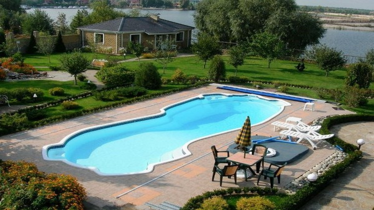 Above Ground Pools with Decks | Half Above Ground Pools | Semi Inground Pool Ideas