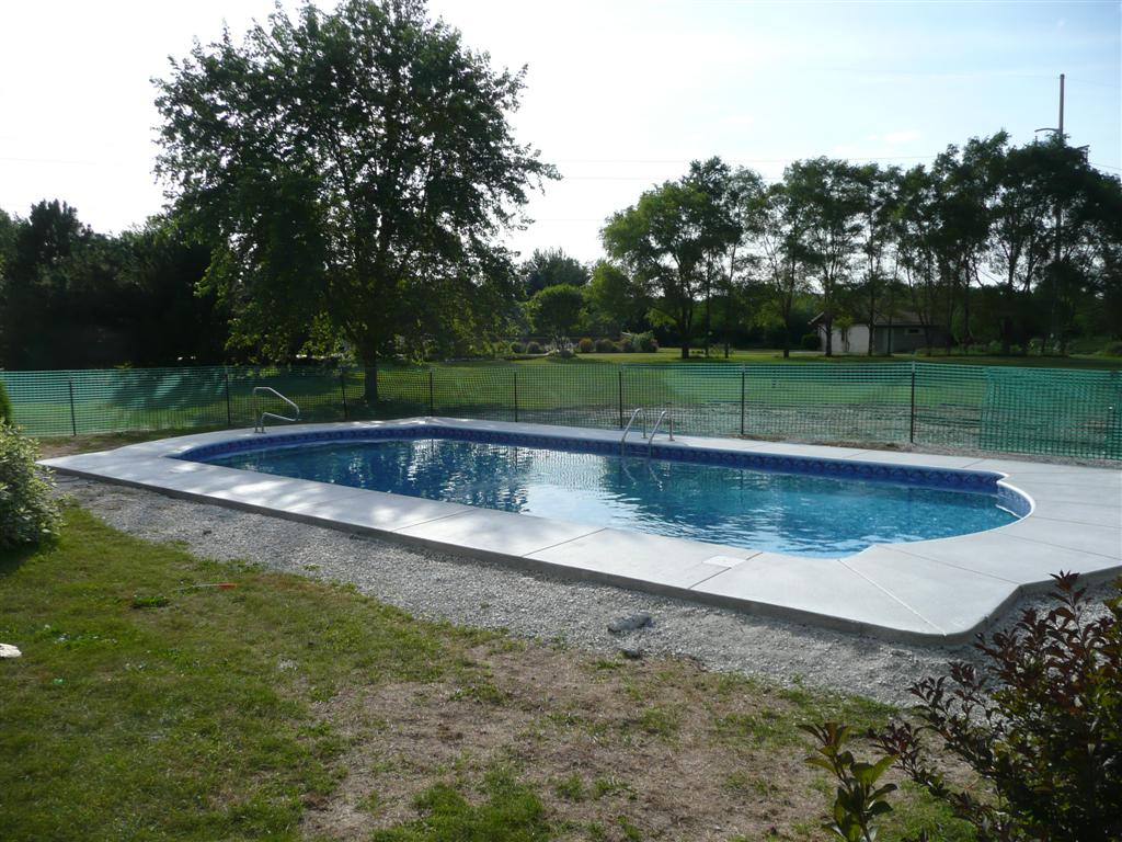 Above Ground Pools With Decks | Semi Inground Pool Ideas | Inground Above  Ground Swimming Pools