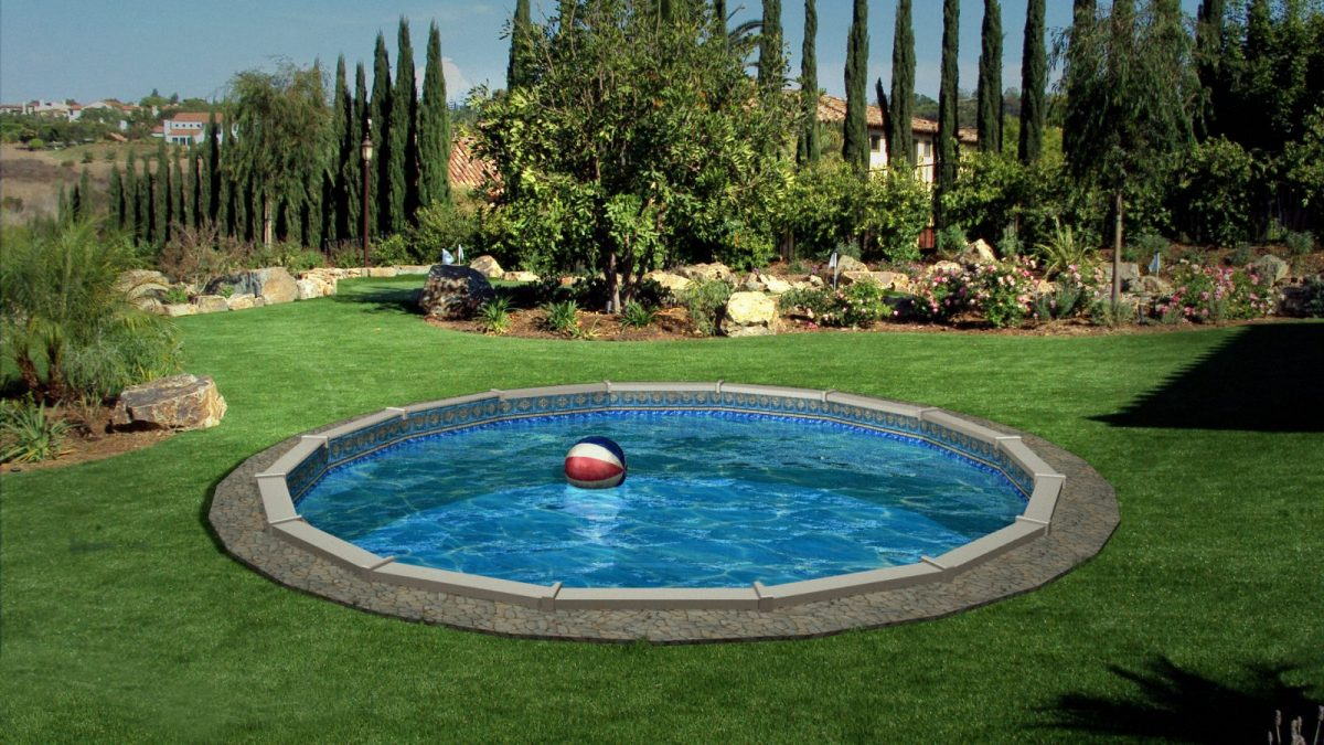 Above Ground Swimming Pools with Decks | Semi Inground Pool Ideas | Partial Inground Pools