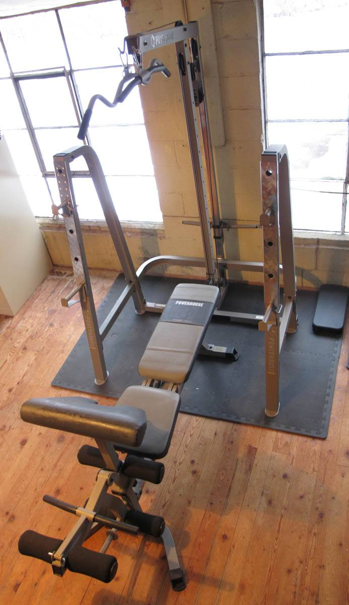 Adjustable Bench Press | Powerhouse Weight Bench | Weight Bench and Weights Set