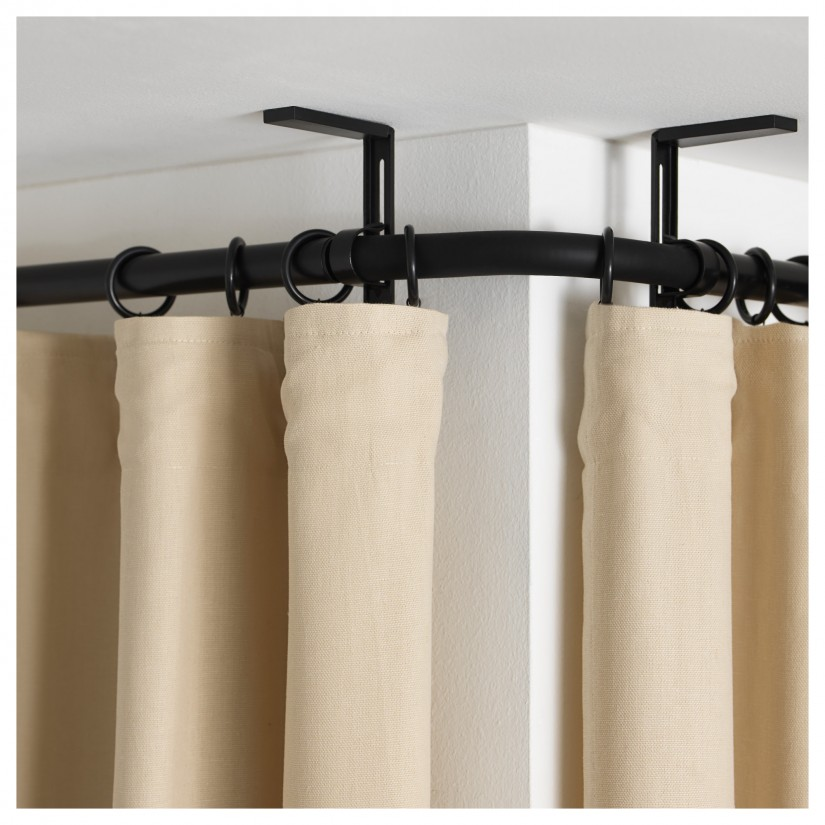 Angled Curtain Rods | Curtain Rod Corner Connector | Bay Window Curtain Rod Lowes