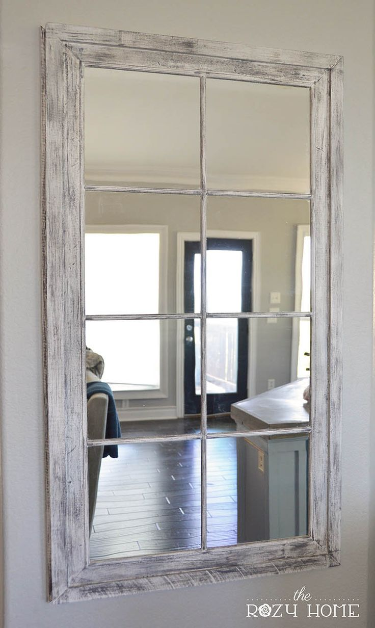 Antique Window Pane Mirror | Paned Mirrors | Windowpane Mirror