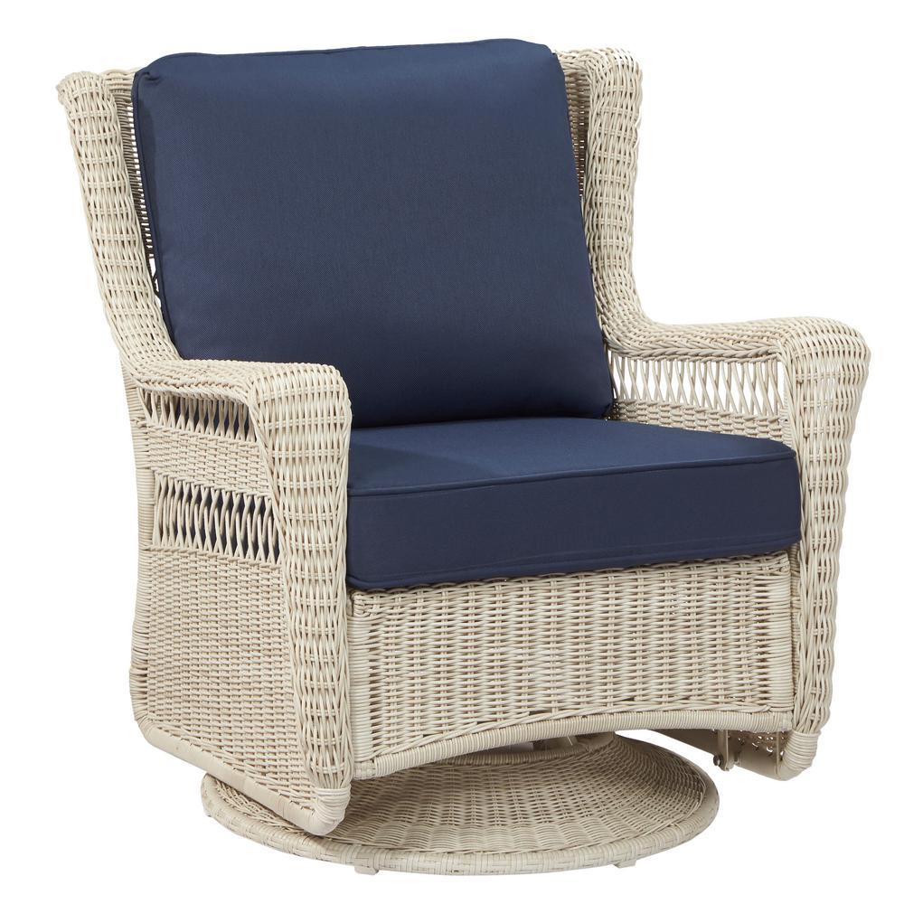 Bamboo Swivel Chair Cushions | Wicker Rocker | Rattan Swivel Rocker