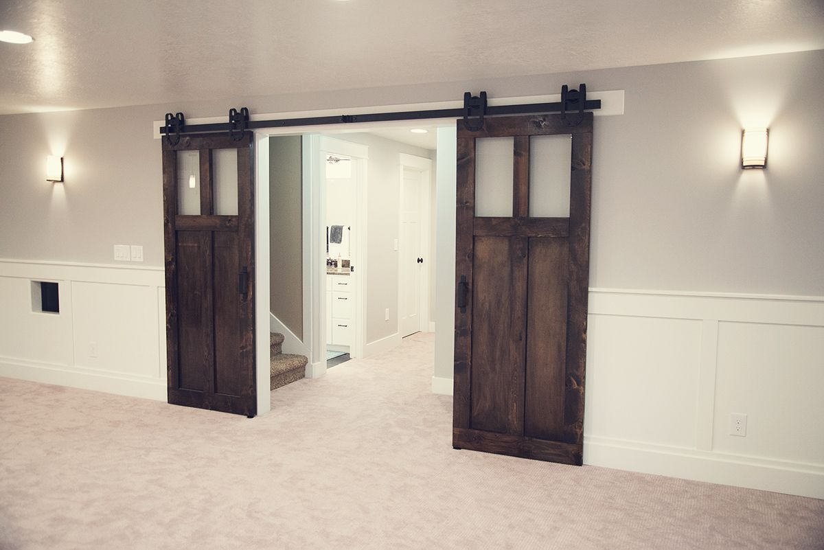 Barn Door Bypass Track | Bypass Barn Doors | Rolling Door Hardware Lowes