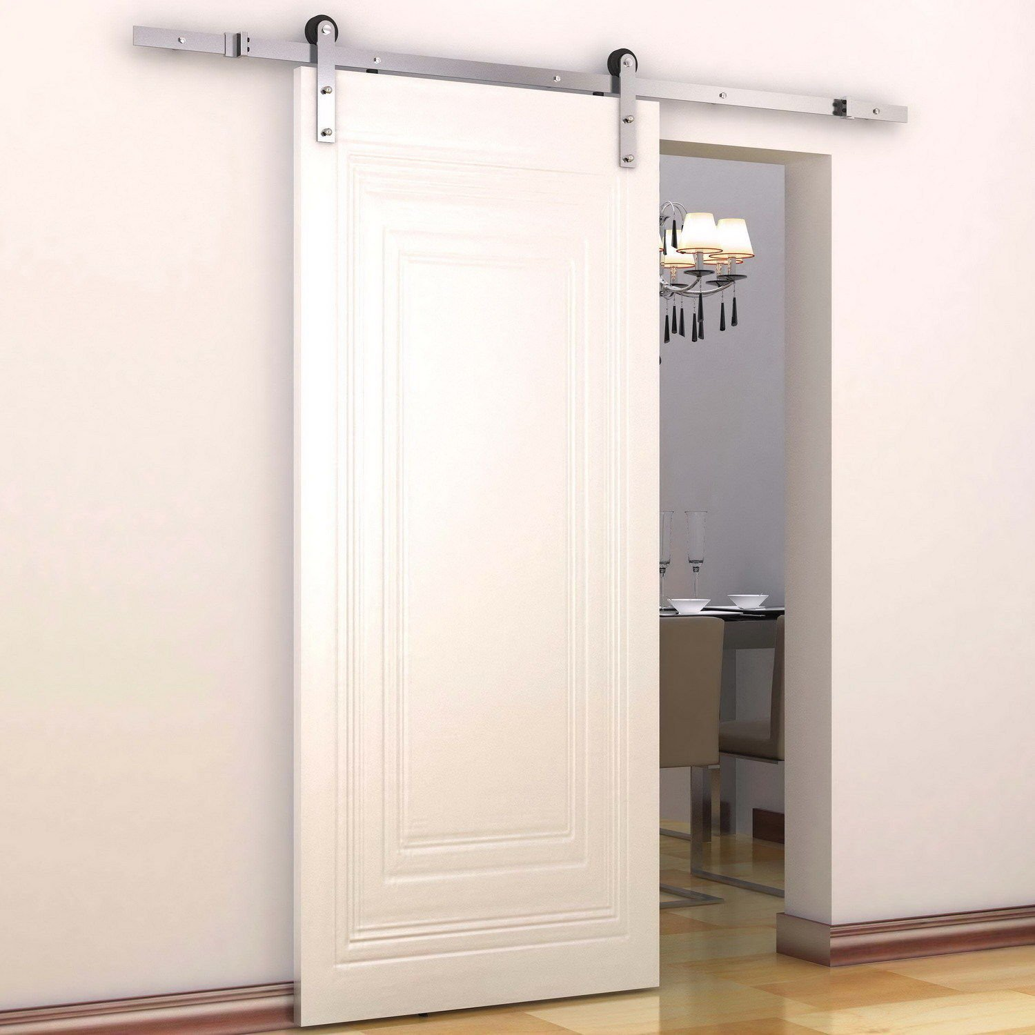 Barn Door Double Track System | Bypass Barn Doors | Interior Sliding Barn Door Kit