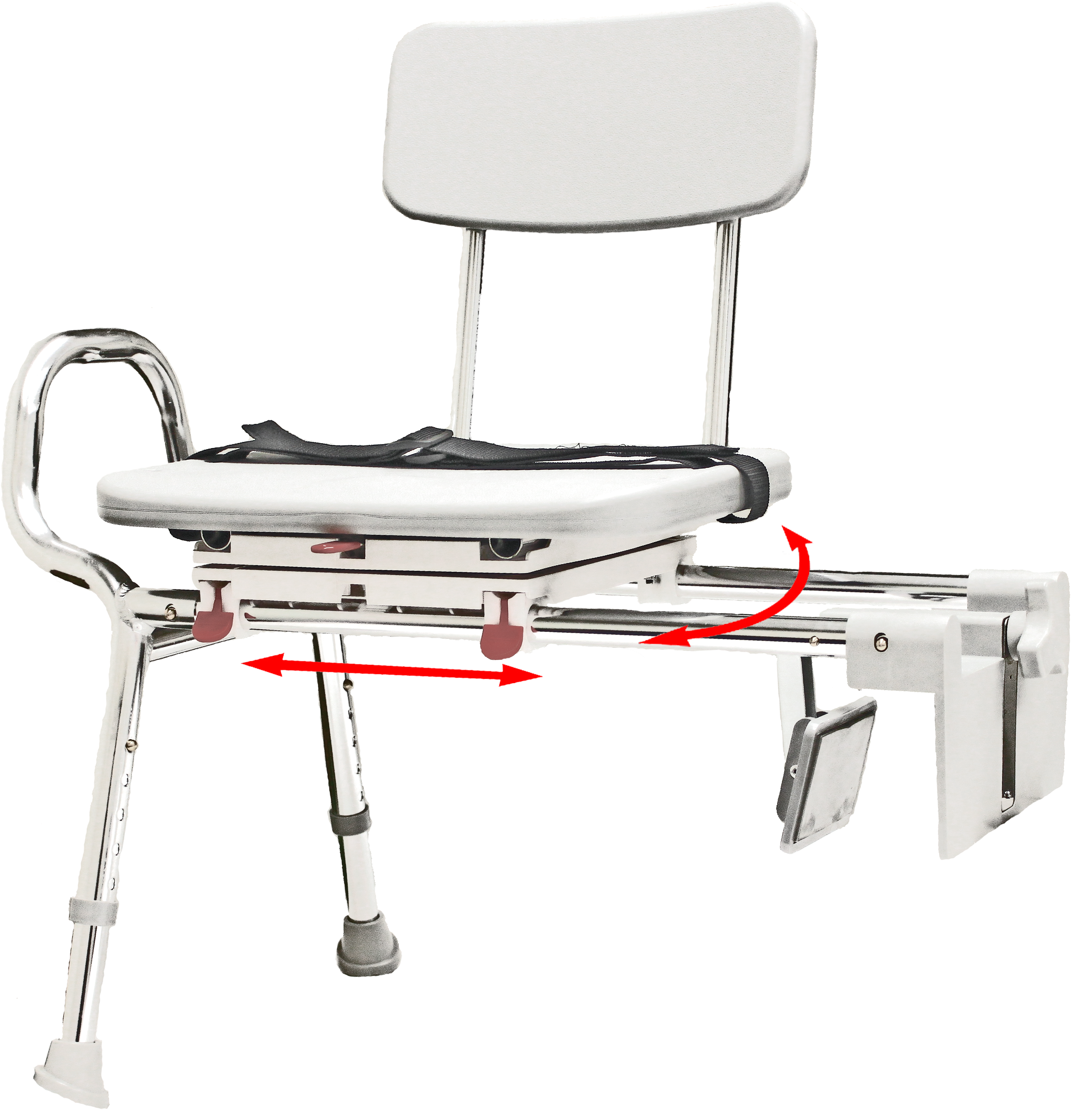 Bathtub Seats for The Elderly | Adjustable Transfer Bench | Transfer Tub Bench