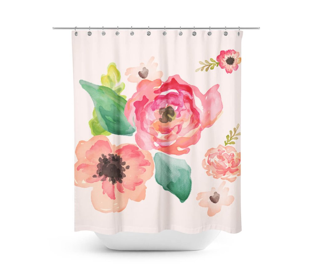 Bathtub Shower Curtain | Cheap Shower Curtains | Floral Shower Curtain