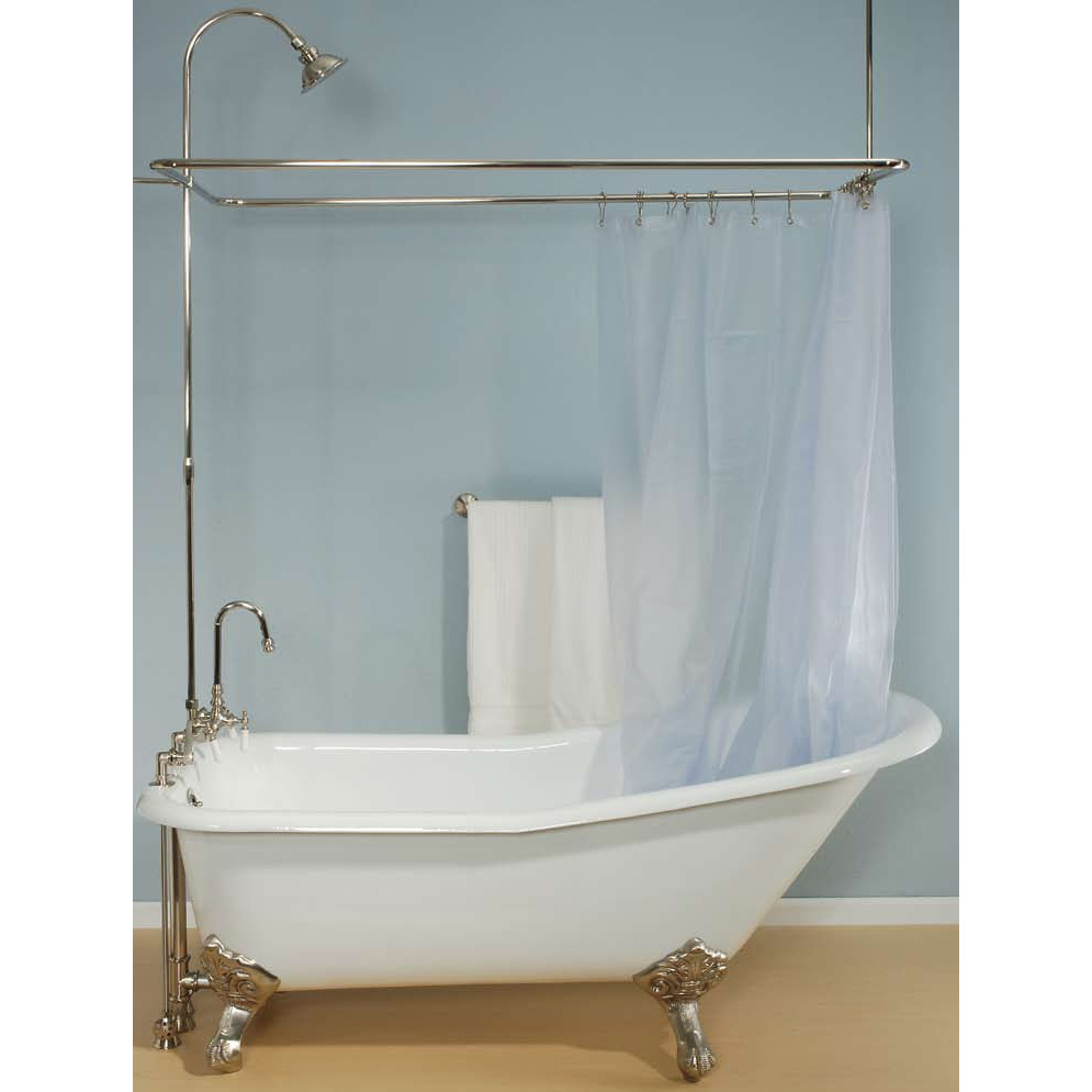 Bathtub Shower Curtain Surround | Clawfoot Tub Shower Curtain | Tub Curtain Surround