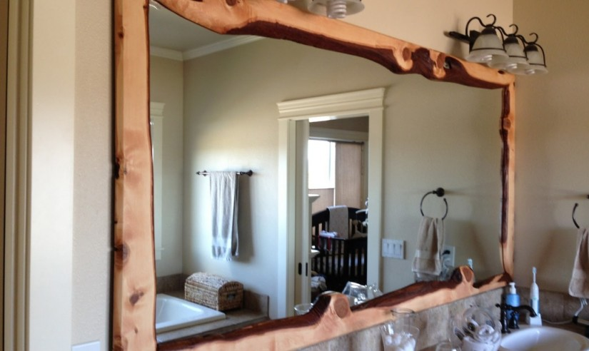 Beech Wood Framed Mirrors | Reclaimed Wood Bathroom Mirror | Reclaimed Wood Mirror