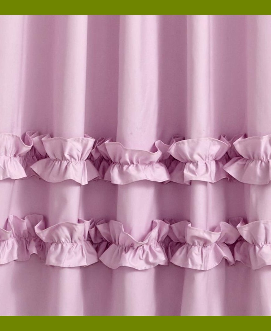 Blackout Childrens Curtains | Blackout Curtains for Girls Room | Ruffle Blackout Curtains