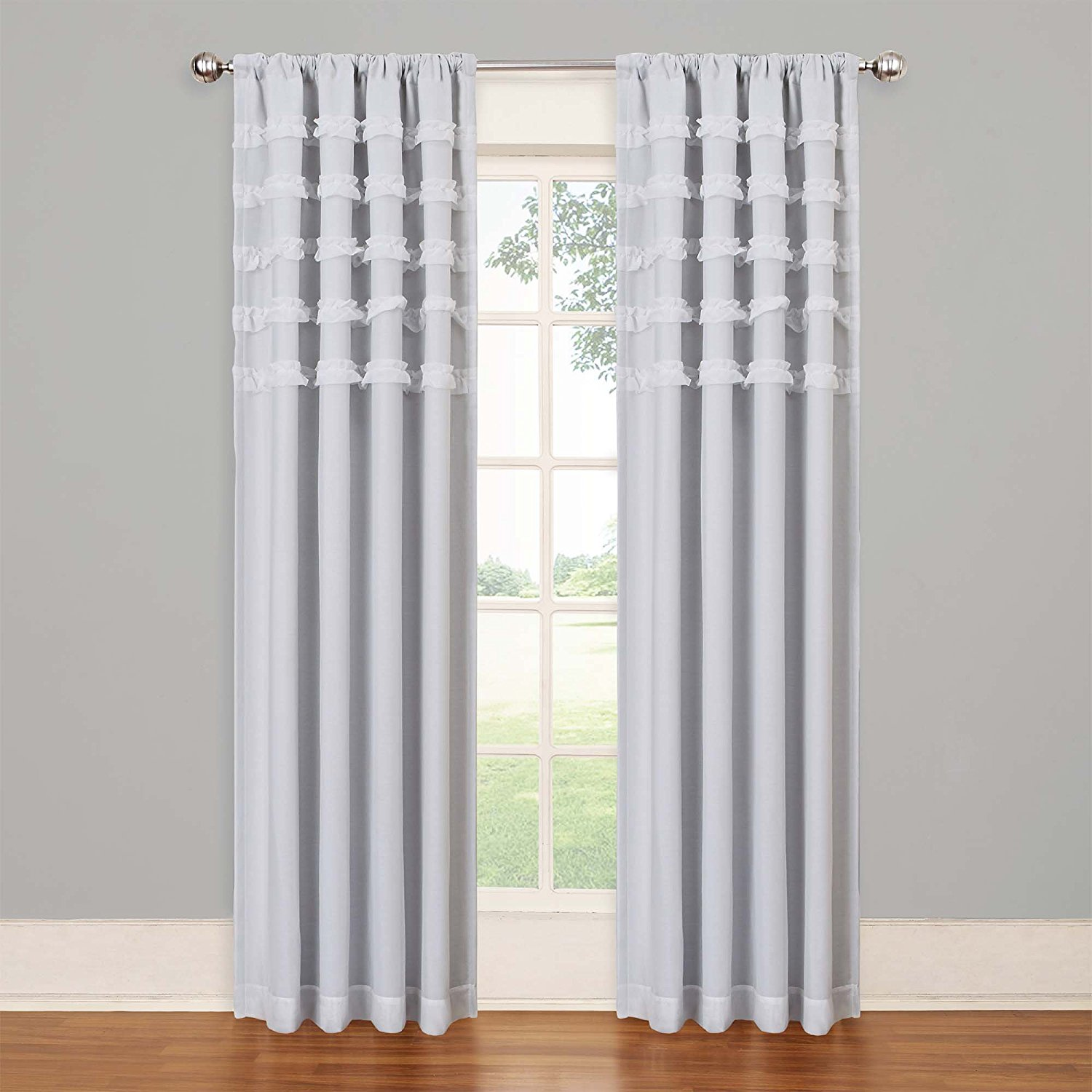 Blackout Curtains Childrens Bedroom | Ruffle Blackout Curtains | Childrens Blackout Curtains