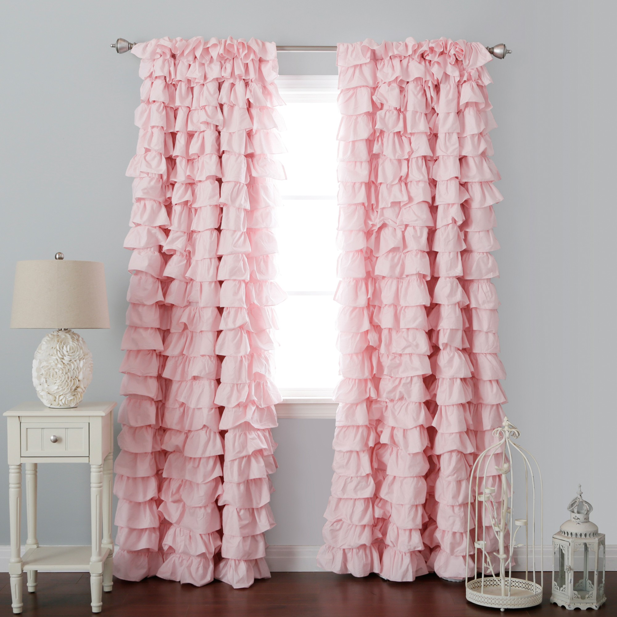 Blackout Curtains for Children | Polka Dot Curtain Panels | Ruffle Blackout Curtains