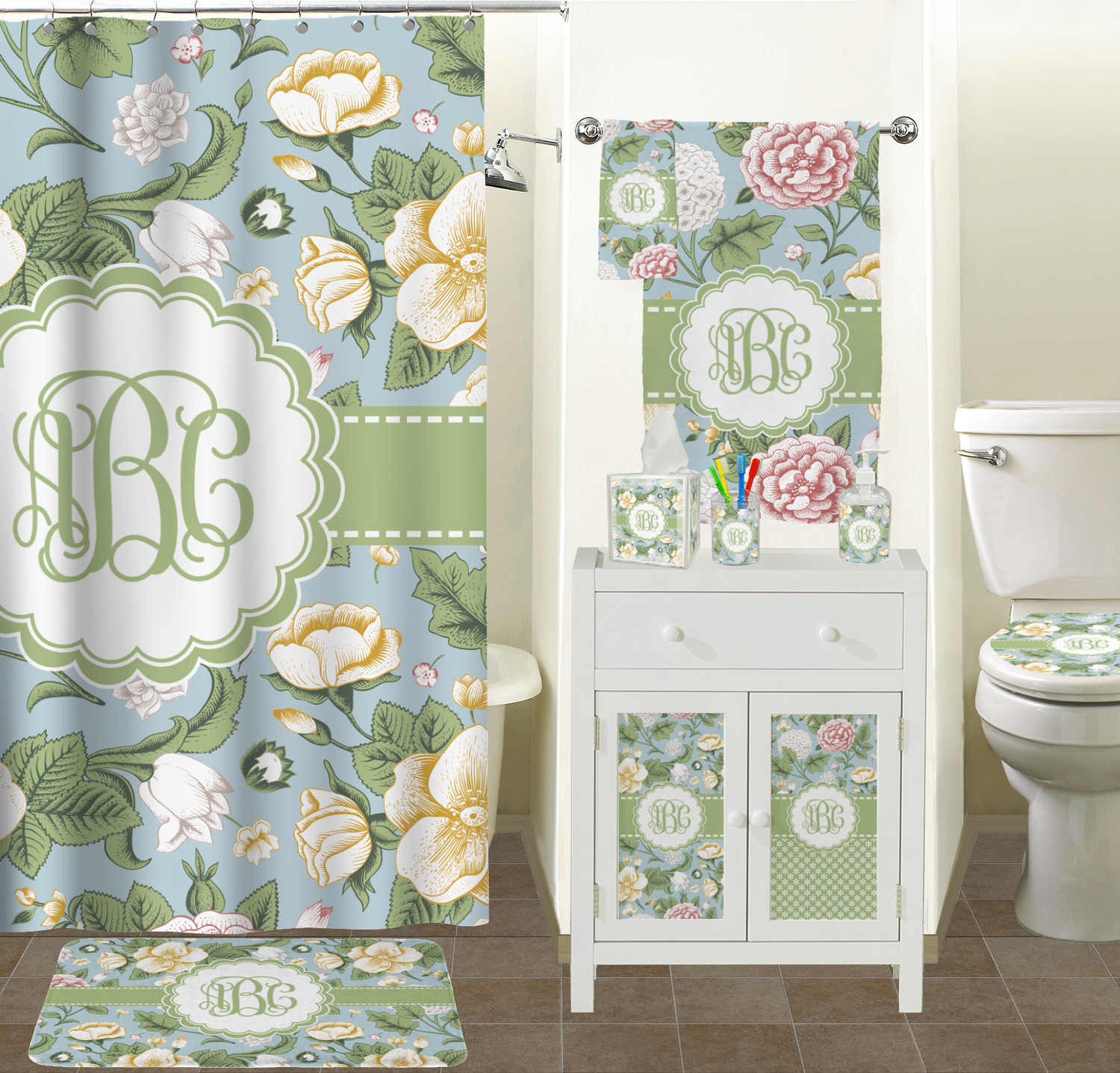 Boho Shower Curtain | Shower Curtains Floral | Floral Shower Curtain