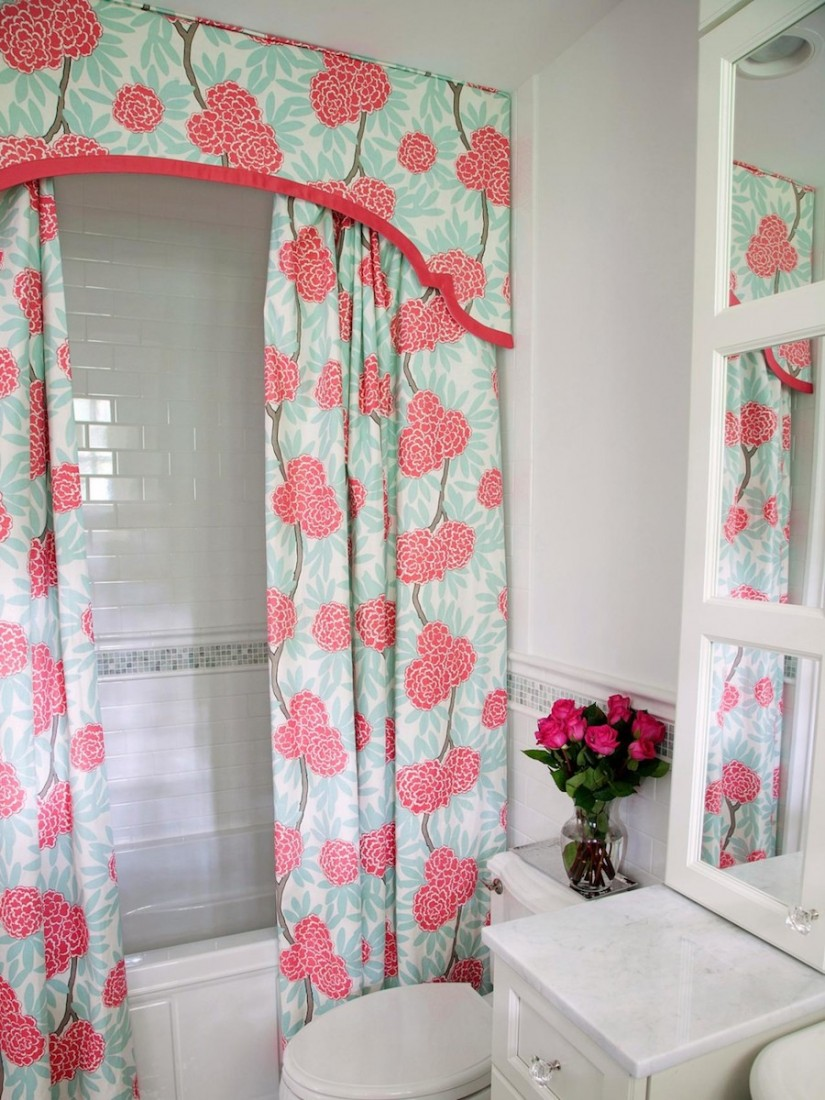 Boho Shower Curtains | Whimsical Shower Curtains | Floral Shower Curtain