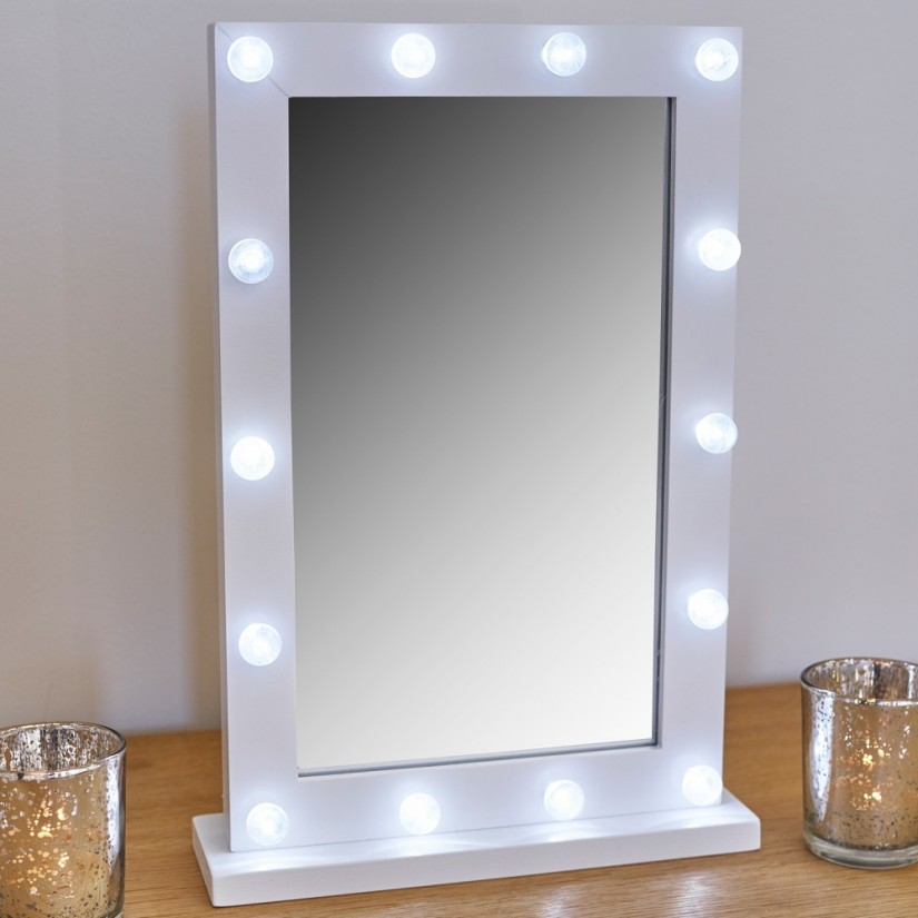 Broadway Lighted Vanity Desk | Hollywood Vanity Mirror With Lights | Led Hollywood Mirror
