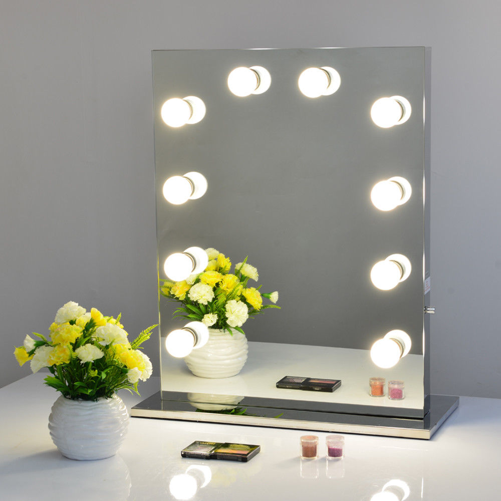 Broadway Lighted Vanity Desk | Illuminated Hollywood Mirrors | Hollywood Vanity Mirror with Lights