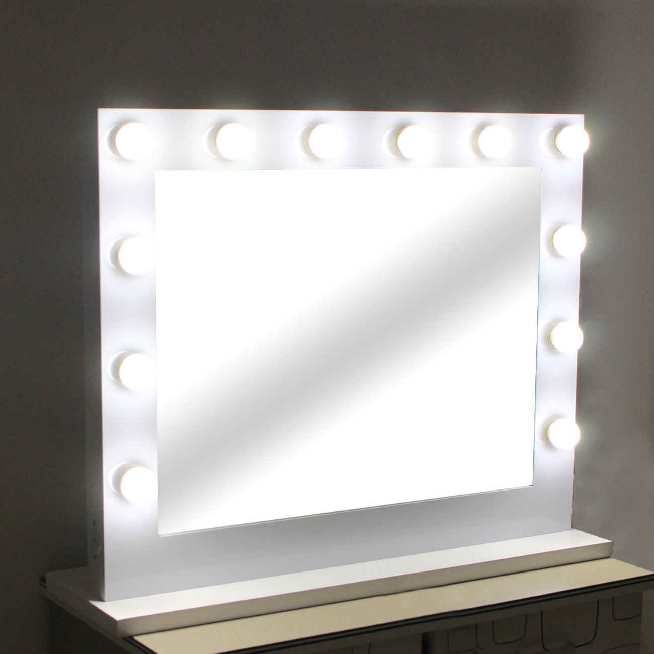Broadway Makeup Mirror | Hollywood Vanity Mirror with Lights | Makeup Vanity with Lighted Mirror