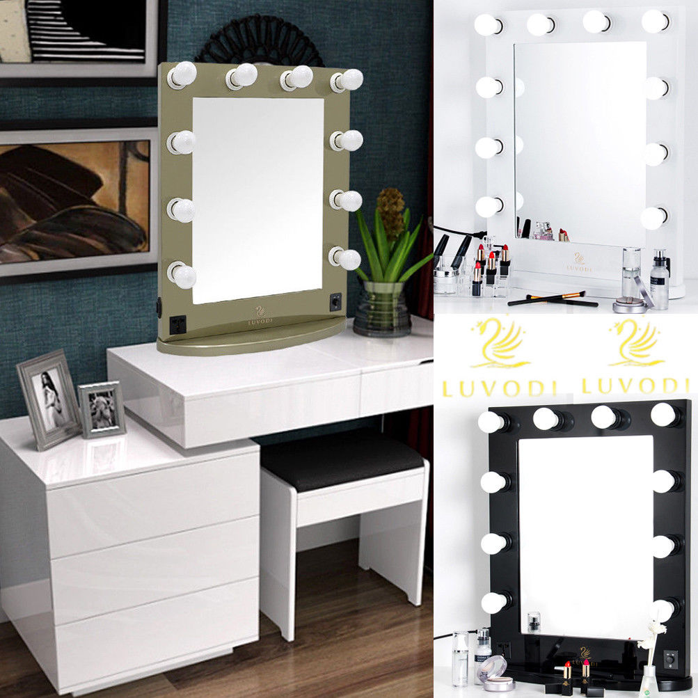 Broadway Mirror Vanity | Light Up Makeup Vanity | Hollywood Vanity Mirror with Lights