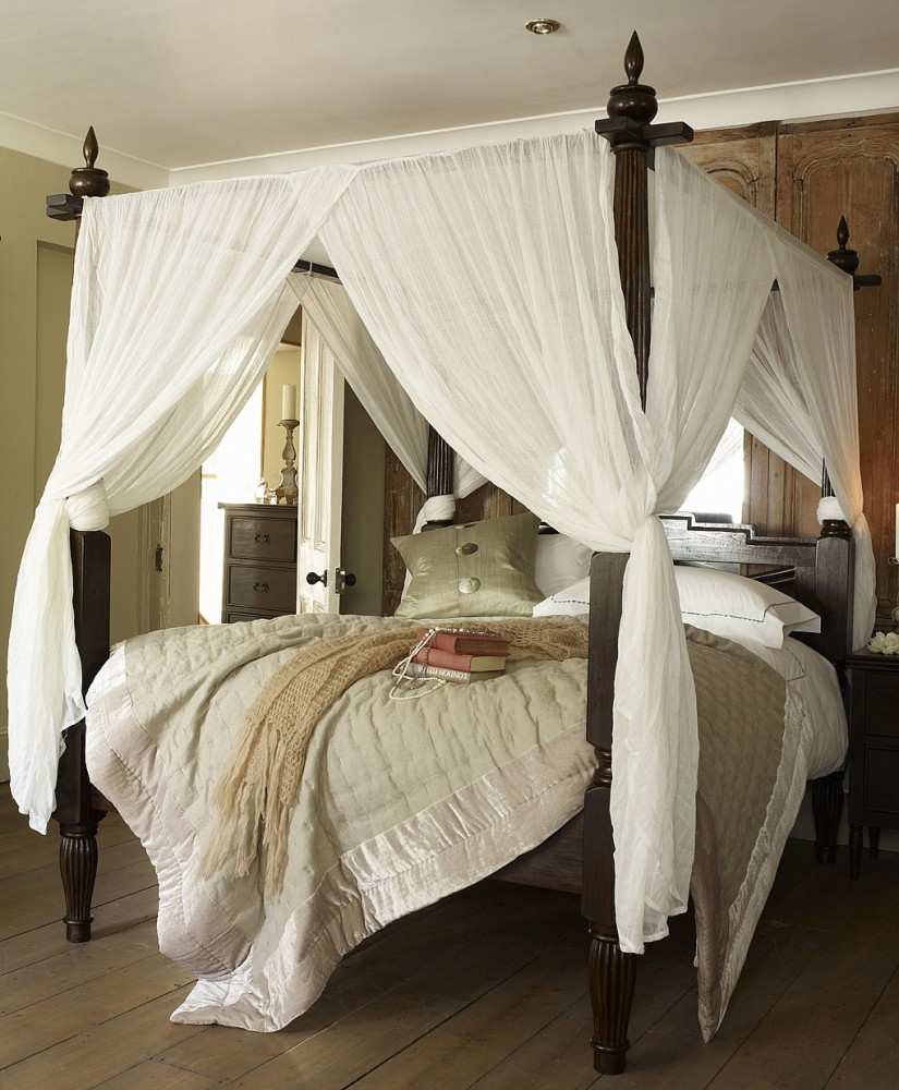 Buy Canopy Bed Curtains | Drapes For Four Poster Bed | Canopy Bed Curtains