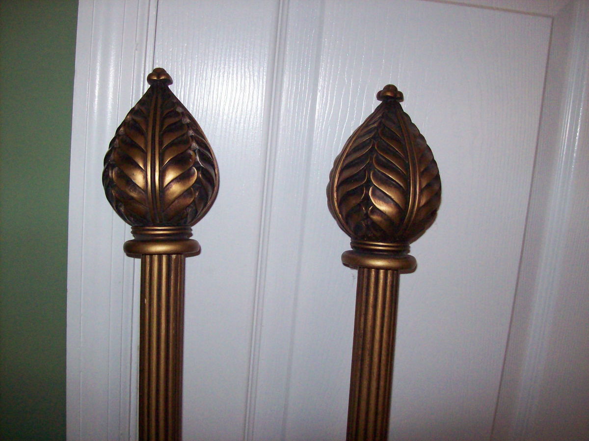 Buy Finials | Finials for Curtain Rods | Curtain Rods with Glass Finials