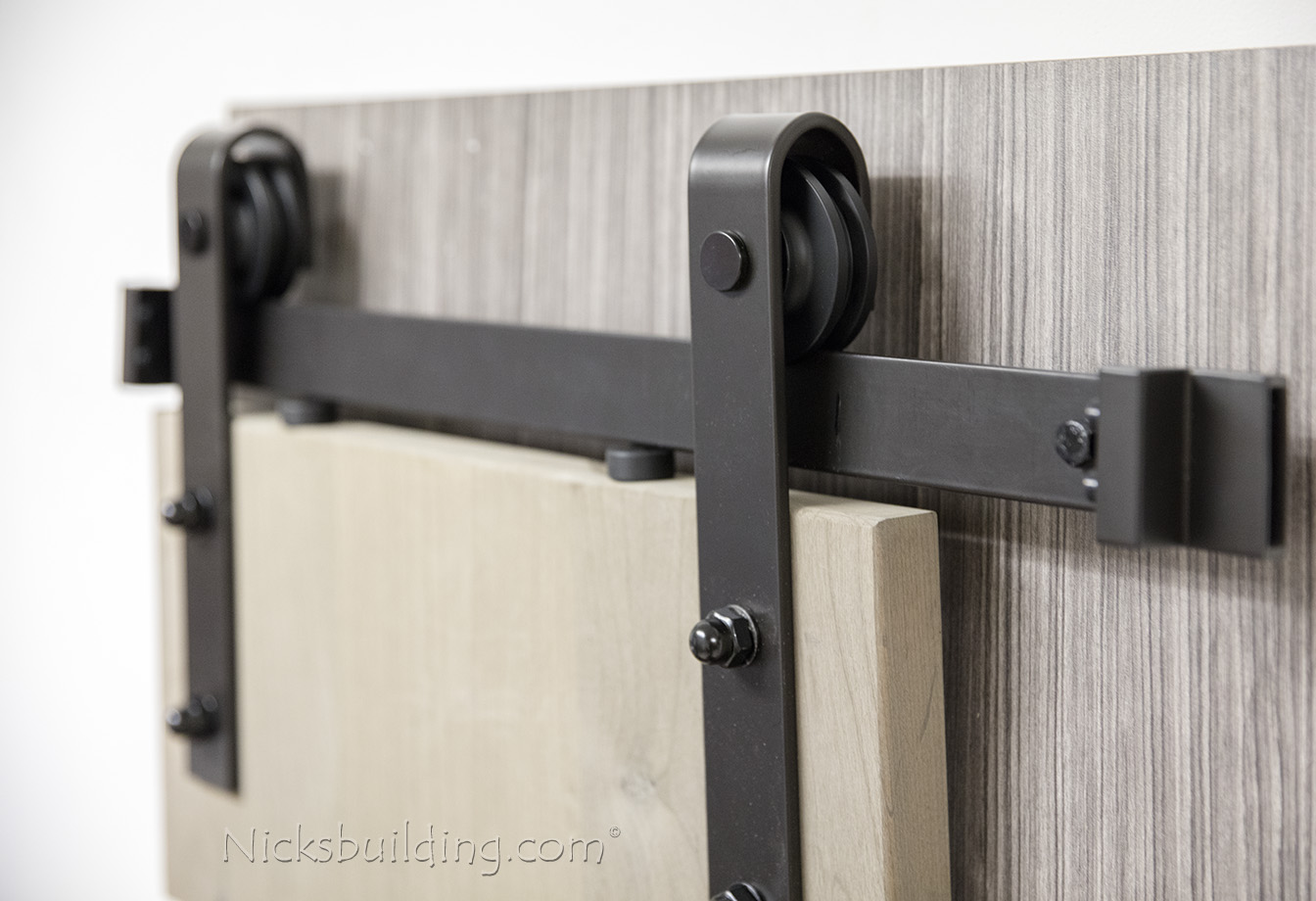 Bypass Barn Door Hardware System | Distressed Barn Door | Bypass Barn Doors