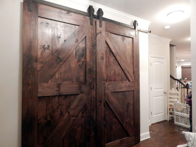 Bypass Barn Doors | Lowes Barn Door Hardware | Barn Door Bypass Track