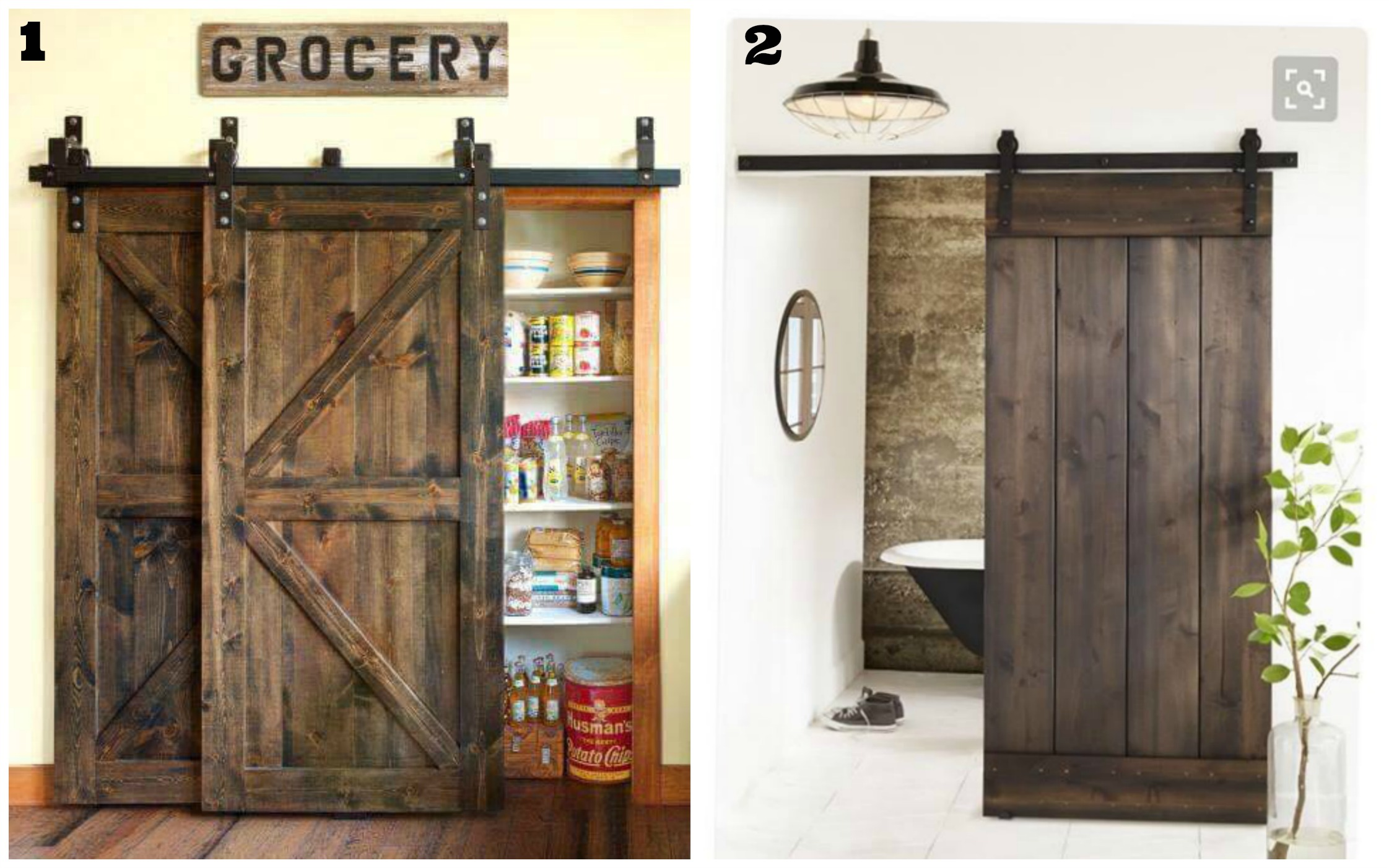 Bypass Barn Doors | Sliding Door Kits | Box Rail Bypass Barn Door Hardware