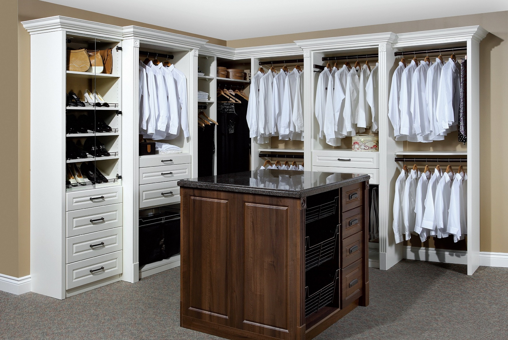 Ideas: Elegant Bedroom Storage System Ideas By California Closets ...