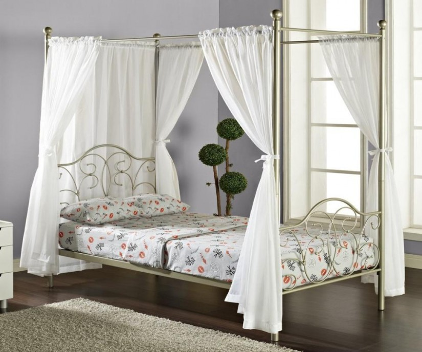 Canopy Bed Curtains | 4 Poster Canopy Bed Curtains | Canopy Curtains For Four Poster Bed