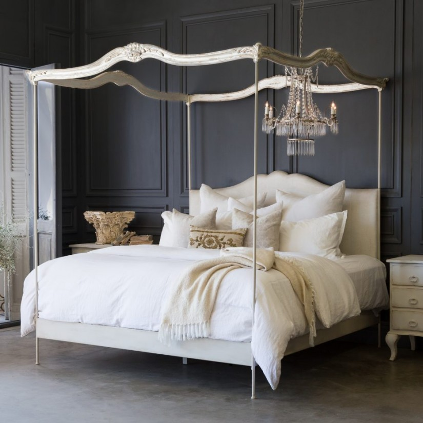 Canopy Bed Curtains | 4 Poster Canopy Bed Curtains | How To Put Curtains On A Canopy Bed