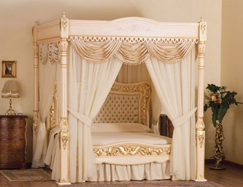 Canopy Bed Curtains | Bed Canopy Curtains | 4 Poster Bed Canopy Curtains