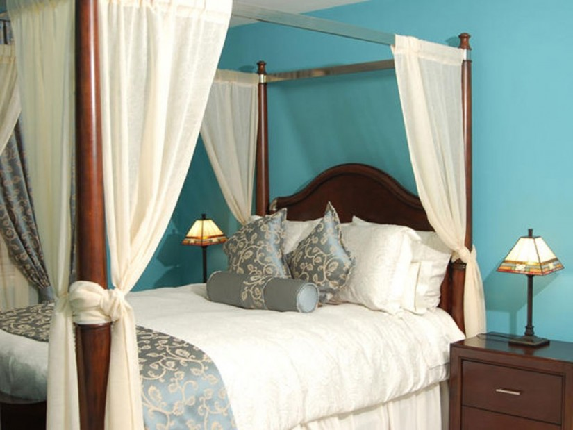 Canopy Bed Curtains | Canopy Sheers | Queen Bed Canopy Curtains