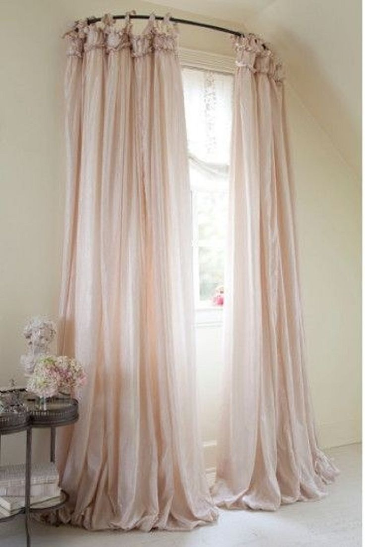 Canopy Bed Curtains | Ceiling Mount Curtain Rods Canopy Bed | Canopy Drapes For Queen Bed