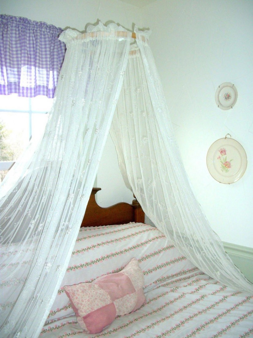 Canopy Bed Curtains | Curtain Rod Canopy Bed | Canopy Bed Curtains Queen