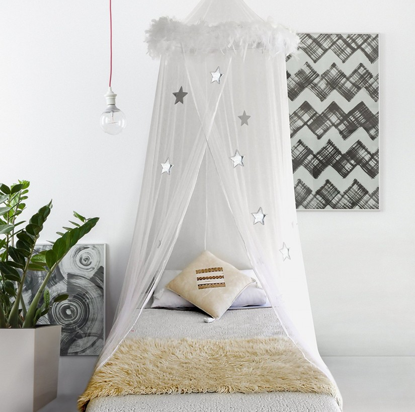 Canopy Bed Curtains | Curtain Rod Canopy Bed | Canopy Bed Drapes Curtains