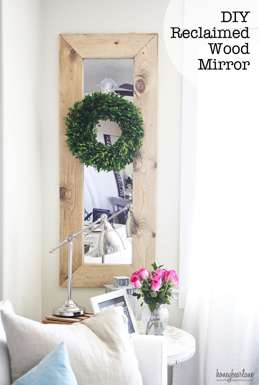 Cheap Large Wall Mirrors for Sale | Oak Framed Wall Mirror | Reclaimed Wood Mirror