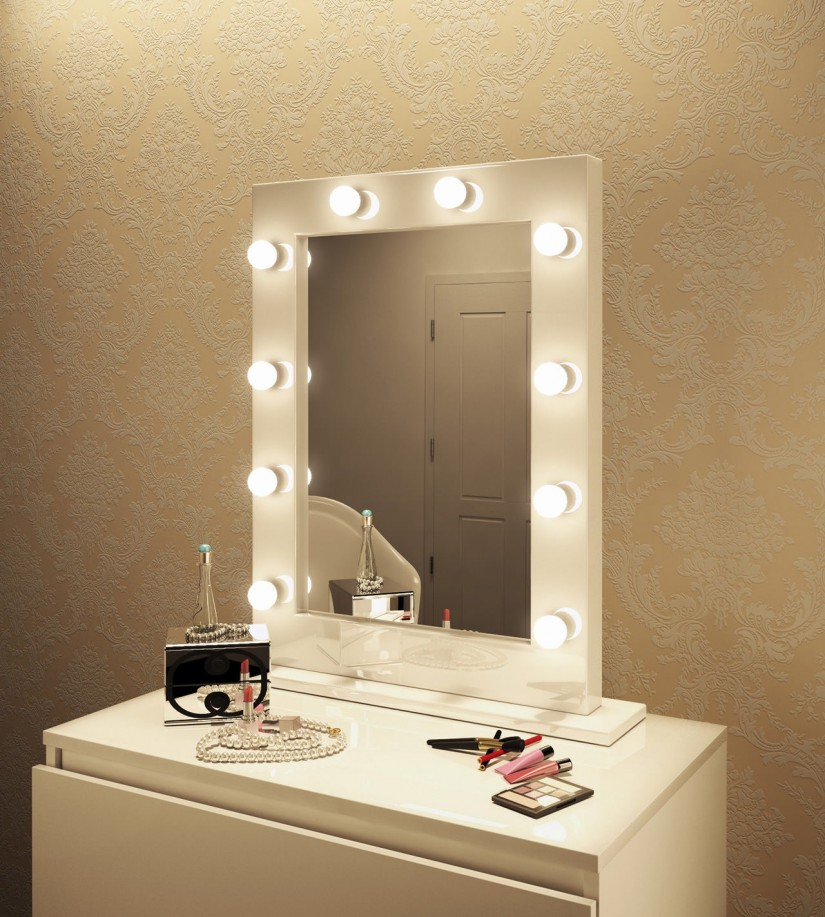 Cheap Vanity Mirror With Lights | Lighted Makeup Vanity | Hollywood Vanity Mirror With Lights
